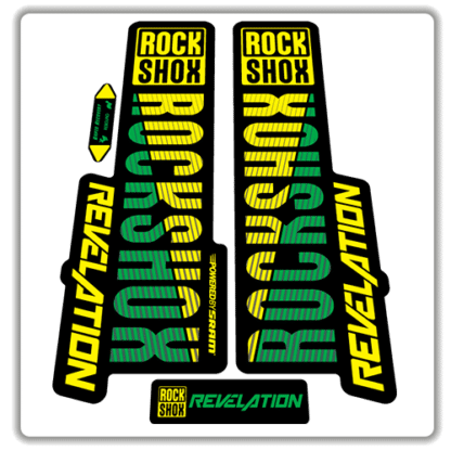 green and yellow rockshox revelation fork stickers 2018