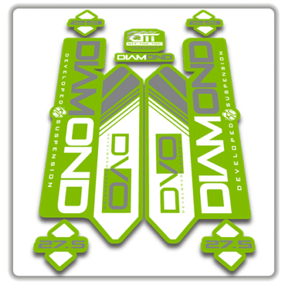 green dvo diamond fork stickers