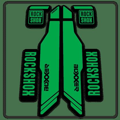 green rockshox boxxer 2014 2015 fork stickers