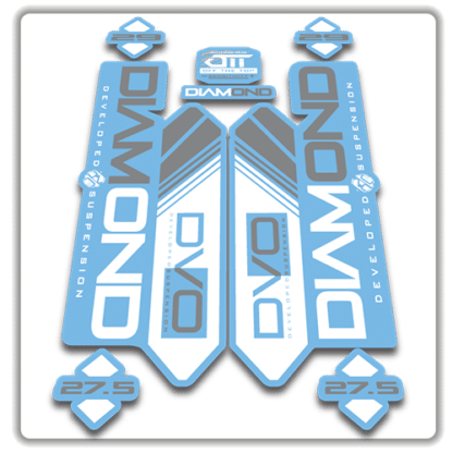 light blue dvo diamond fork stickers