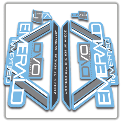 light blue dvo emerald fork stickers