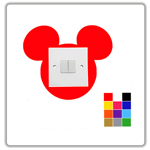mickey mouse light switch surround sticker