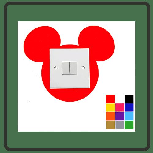 mickey mouse light switch surround sticker