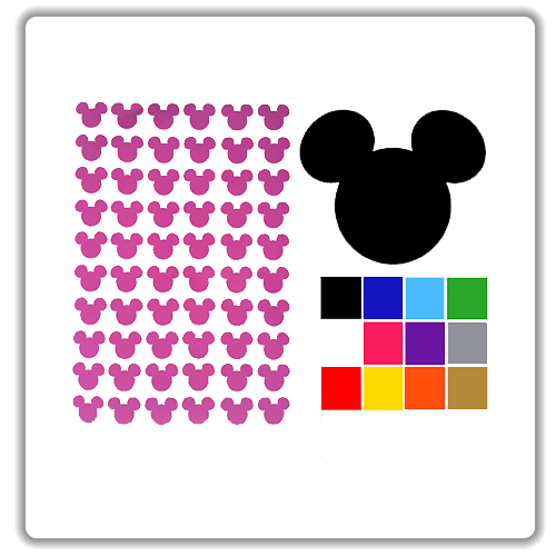 mickey mouse craft stickers. Black Bedroom Furniture Sets. Home Design Ideas