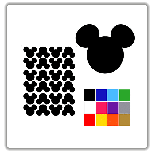 mickey mouse stickers. Black Bedroom Furniture Sets. Home Design Ideas