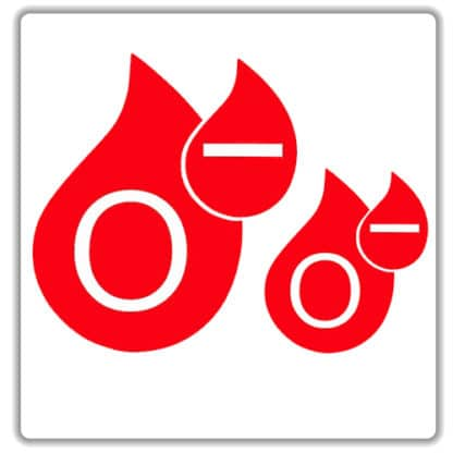o negative blood type sticker