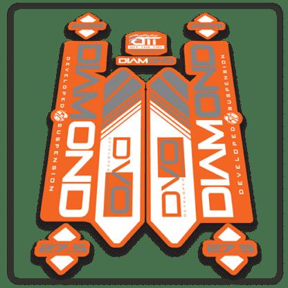 orange dvo diamond fork stickers