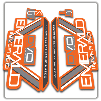 orange dvo emerald fork stickers