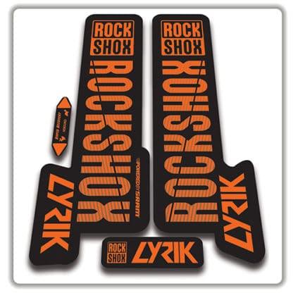 orange rockshox lyric 2018 fork stickers 2018