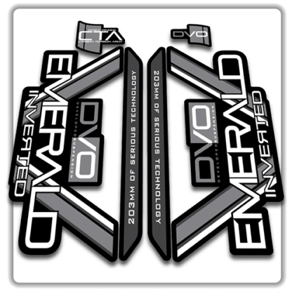 original black dvo emerald fork stickers