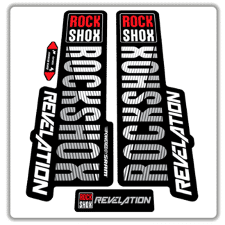 original colour rockshox revelation fork stickers 2018