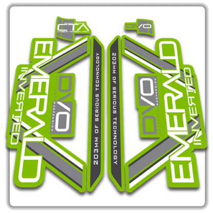 original green dvo emerald fork stickers