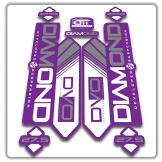 purple dvo diamond fork stickers