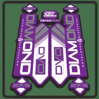 purple dvo diamond fork stickers