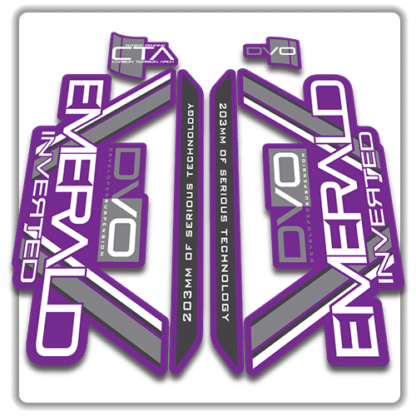 purple dvo emerald fork stickers