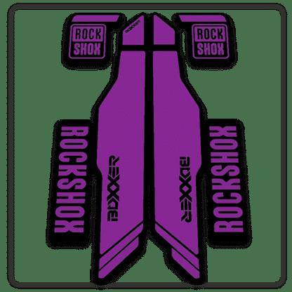 purple rockshox boxxer 2014 2015 fork stickers