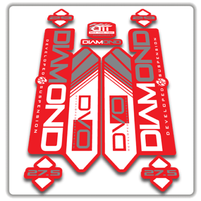 red dvo diamond fork stickers