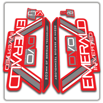 red dvo emerald fork stickers