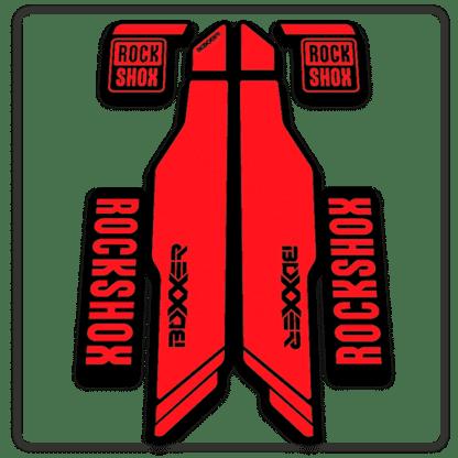 red rockshox boxxer 2014 2015 fork stickers