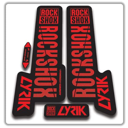 red rockshox lyric fork stickers 2018