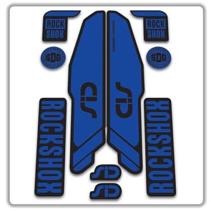 rockshox SID 2015 2017 fork stickers blue