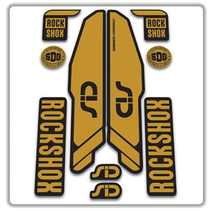 rockshox SID 2015 2017 fork stickers gold