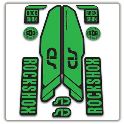 rockshox SID 2015 2017 fork stickers green