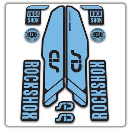 rockshox SID 2015 2017 fork stickers light blue