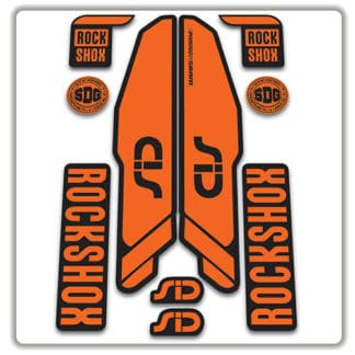rockshox SID 2015 2017 fork stickers orange