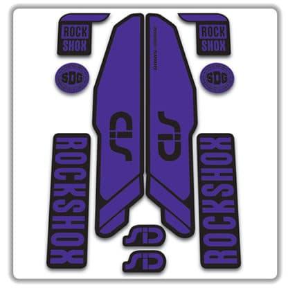 rockshox SID 2015 2017 fork stickers purple