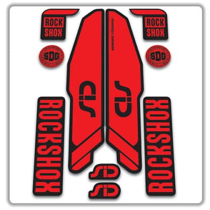 rockshox SID 2015 2017 fork stickers red