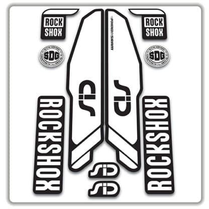 rockshox SID 2015 2017 fork stickers white
