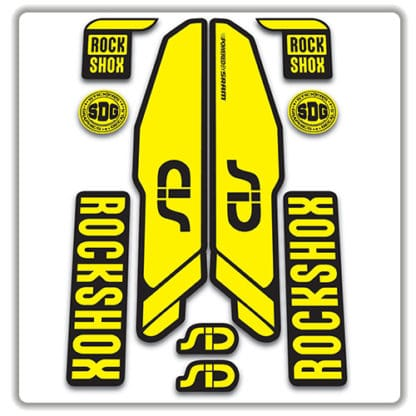 rockshox SID 2015 2017 fork stickers yellow