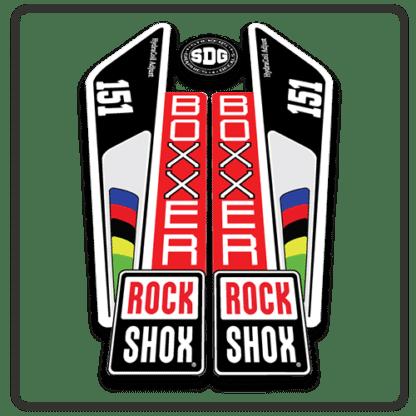 rockshox boxxer 151 fork stickers