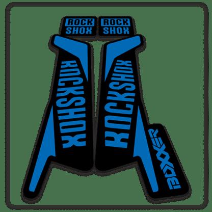 rockshox boxxer 2016 fork stickers in blue