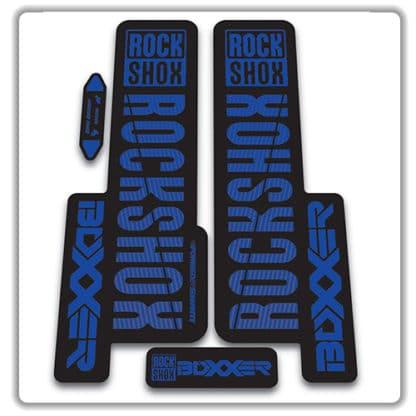 rockshox boxxer 2018 fork stickers blue
