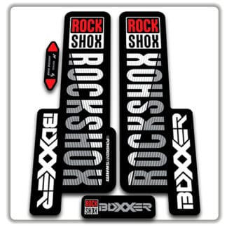 rockshox boxxer 2018 fork stickers original white gray