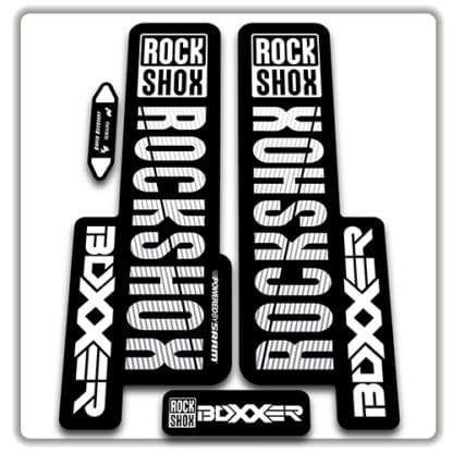 rockshox boxxer 2018 fork stickers white