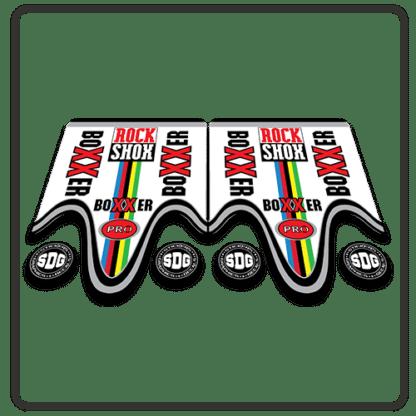 rockshox boxxer pro fork stickers