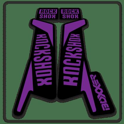 rockshox boxxer fork stickers in purple