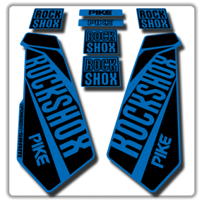 rockshox pike fork stickers in blue