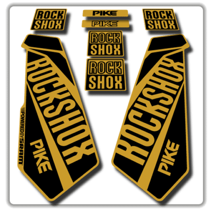 rockshox pike fork stickers in gold