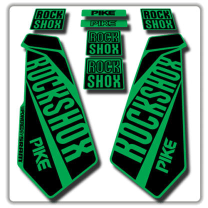 rockshox pike fork stickers in green