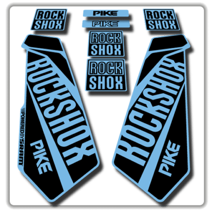 rockshox pike fork stickers in light blue
