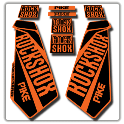rockshox pike fork stickers in orange