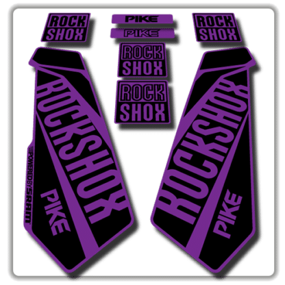 rockshox pike fork stickers in purple