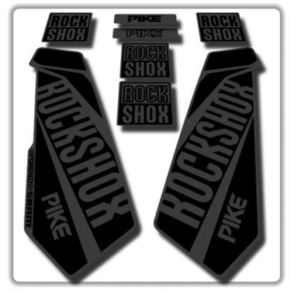 rockshox pike fork stickers in stealth