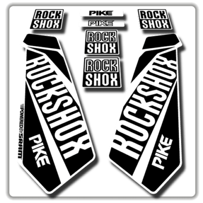 rockshox pike fork stickers in white