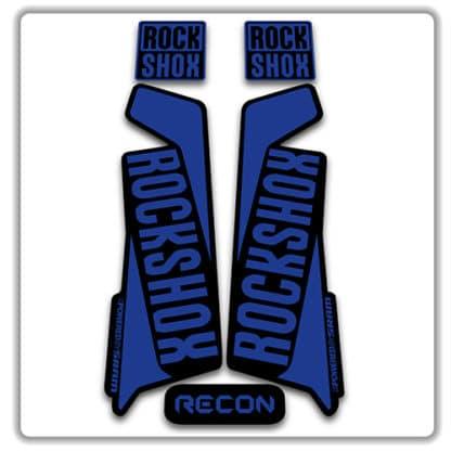 rockshox recon 2015 2017 fork stickers blue