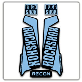 rockshox recon 2015 2017 fork stickers light blue
